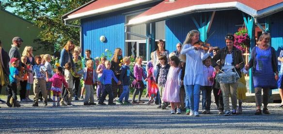 Første skoledag 2013 - Steinerskolen på Hedemarken