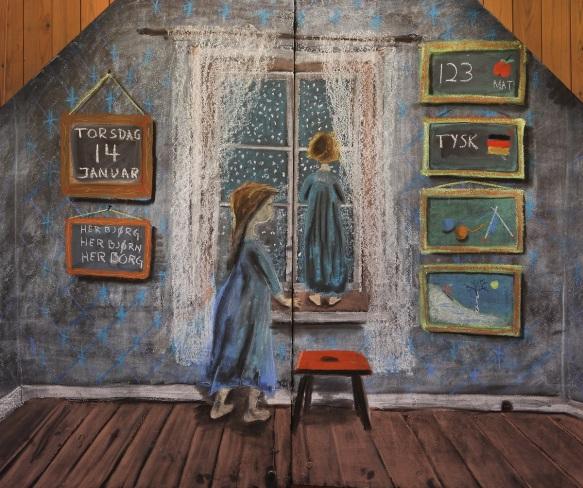Tavletegning Ketil Reigstad, foto Kim Rognmo - Steinerskolen på Hedemarken