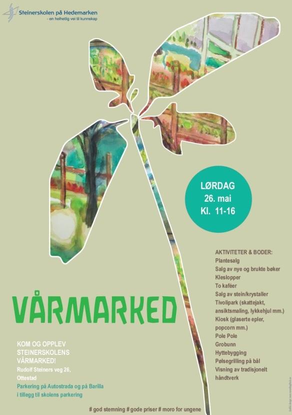 Plakat vårmarked 2018 Veronika Glitsch-Steinerskolen på Hedemarken