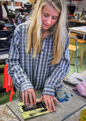 Trykketeknikk radering/etsning 10. klasse 2011-Steinerskolen på Hedemarken