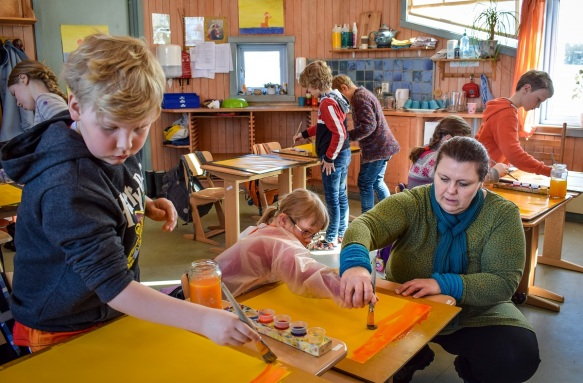 3. klasse 2018 maling-Steinerskolen på Hedemarken