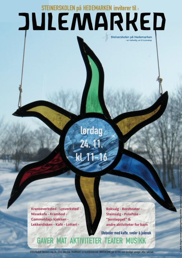 Plakat Julemarked 2018 - Steinerskolen på Hedemarken