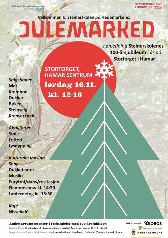 Julemarked Steinerskolen på Hedemarken