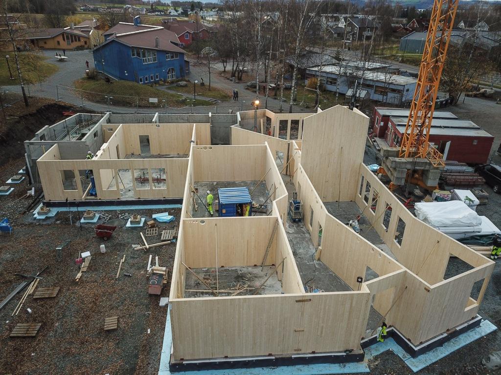 Nybygget Steinerskolen på Hedemarken